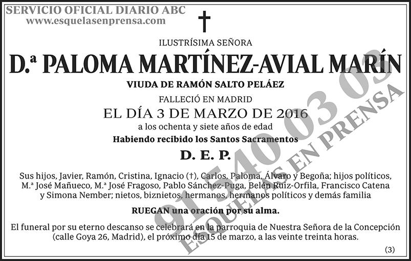 Paloma Martínez-Avial Marín